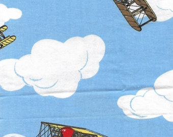 Fat quarter, airplanes, cotton fabric, perfect for your quilt, wall hanging or craft project