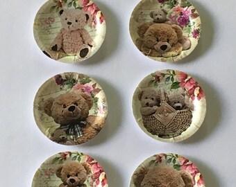 "Dollhouse Miniature Teddy Bear 1"" Paper Plates #3"