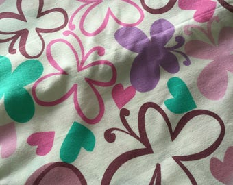 Follow Your Imagination By Prints Charming Butterflies and Love Hearts, Purple & Pink Fat Quarter Quilt Fabric Sewing Fabric Retro Fabric