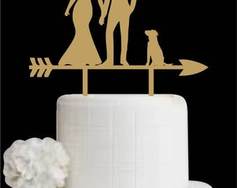 Customized Wedding Cake Topper with Dog, Cake Topper for Wedding, Bride and Groom Cake Topper with Pet, Cake Topper for Anniversary