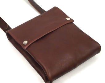Folded Cross Body bag, leather crossbody bag, everyday bag, leather shoulder bag, small messenger bag