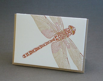Dragonfly Letterpress Greeting Card