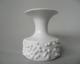 Königlich preußisch Tettau white porcelain vase,german white vase,small Vintage porcelain vase