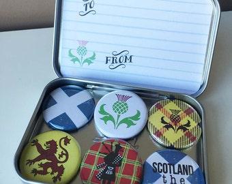I Love Scotland Magnets, gift set
