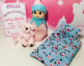 Baby Elf Lilly-Belle The Shelf Sitter Doll With Accessories