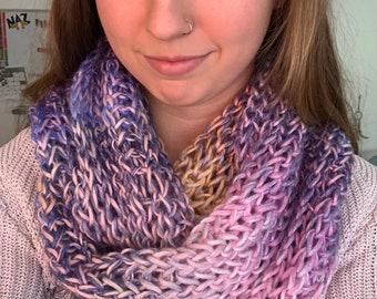Light brioche Infinity Scarf