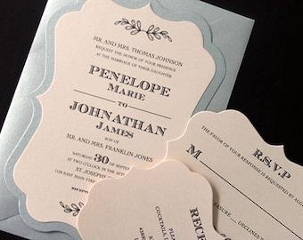 Bracket Card Invite, Wedding Invitation, Bridal Shower Invitation, 50th Birthday Invite, Bachelorette Party Invitation   Quinceanera Invite