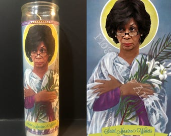 Maxine Waters Devotional Prayer Saint Candle