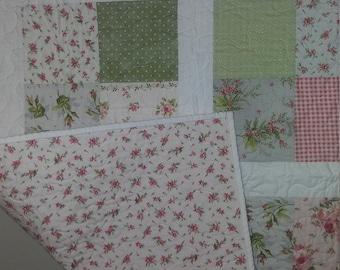 Sweet baby girl farmhouse quilt