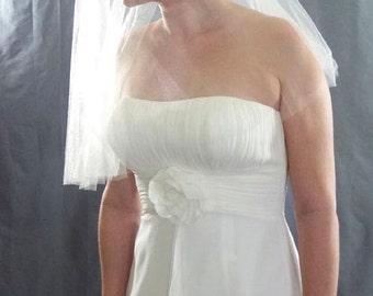 Soft Tulle Wedding Veil, Drop Veil, Soft Bridal Veil, Shimmer Diamond White Tulle