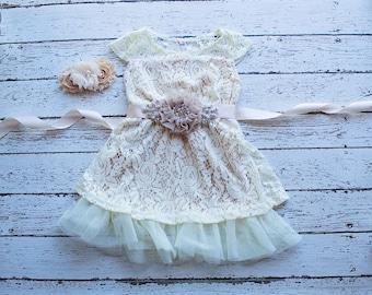 Flower Girl Dresses, Thanksgiving Girls Dress, Champagne Flower Girl Dress,Flower Girl Dress,Bohemian Flower Girl Dress,Champagne Boho Dress