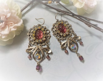 Victorian Crystal and Silver earrings