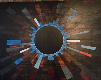 wood wall art - BLUE VENUSIAN - wooden wall art contemporary art home decor eclipse art space art sun wood art wood art blue eclipse & wood wall art VENUSIAN ECLIPSE wood artwooden