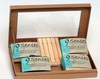 4 Piece Handmade Soap Gift Box -  Christmas Gift Set
