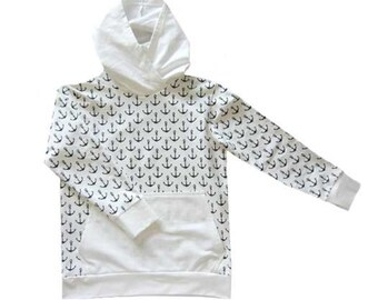 DAVID hoodie pattern, sizes 158 – 46 (Kids M–woman XL) / Instant Download