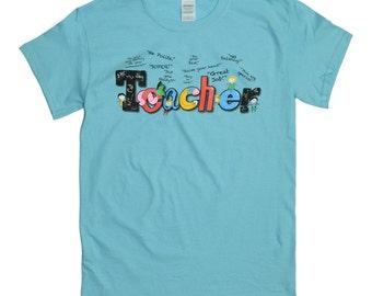 Tees2urdoor Sky Blue Teacher Shirt