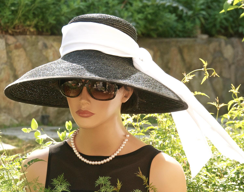 Audrey Hepburn Hat Breakfast at Tiffany\'s Hat Wide Brim