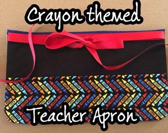 Crayon Teacher Apron