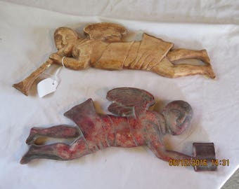 Pair of 17th or 18th Century Angels Plaster Casts