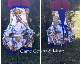 Short CAMO Dress / Pick Up and Peek-A-Boo Tulle Skirt