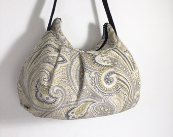 Pleated Bag // Shoulder Purse - Basketweave Greystone