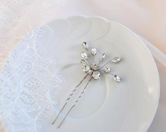 Crystal Hair pins, Wedding Hair Piece, Bridal Hair pins, Rose Gold Headpiece,  Rhinestone Hair Pins, Gold Headpiece, Bridal Hair Jewelry