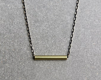 Horizon Necklace - Men's Necklace - Symbolic Jewelry - Pendant Necklace - Masculine Necklace - Brass Jewelry by Modern Out