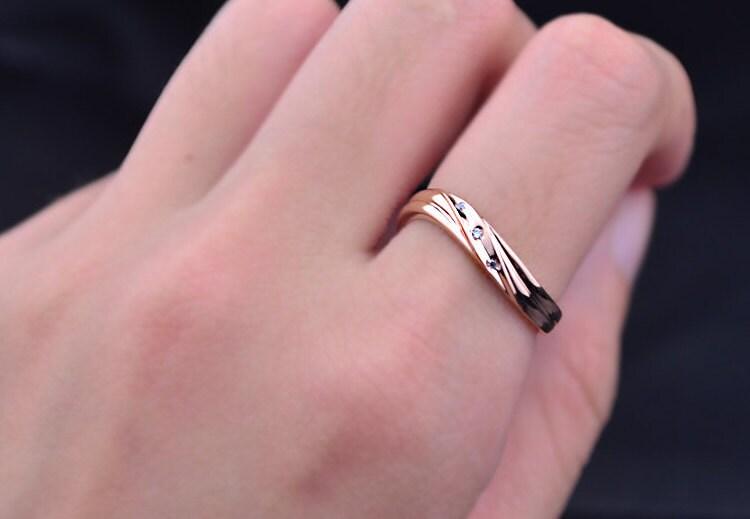 Hold Me Tight 18k Rose Gold Diamond Wedding Ring Wedding Bands His