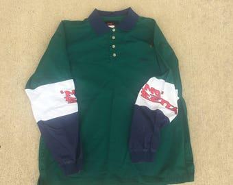 Vintage Mo Betta Button Up (Size L) 1/4 Button Western Shirt Oxford Shirt 90s Mo Betta Blues