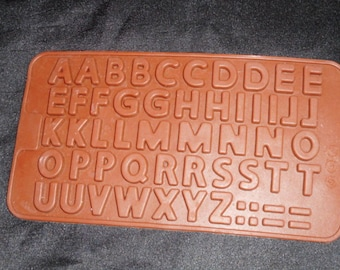 Silicone mold to create resin letters.