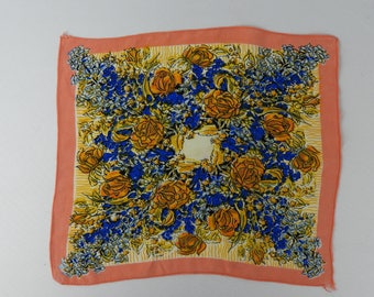 1930s or 1940s Crepe Floral Hankie - Perfect Gift