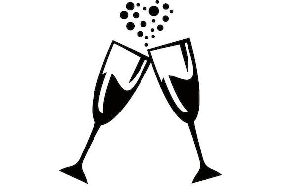 Verres champagne 1 c l bration c l brer parti coeur bulles - Boire une coupe de champagne enceinte ...