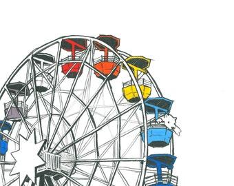 Day 15 Print: Tibidabo amusement park