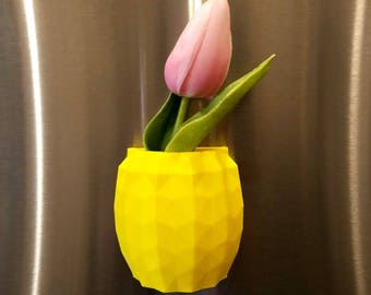 Pineapple Magnet Planter Air Plant 3D Printed, Pineapple Planter, Pineapple Decor, Air Planter, Pineapple
