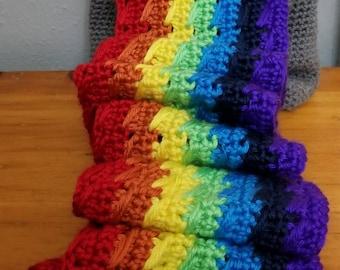 Rainbow Cat Barf Scarf
