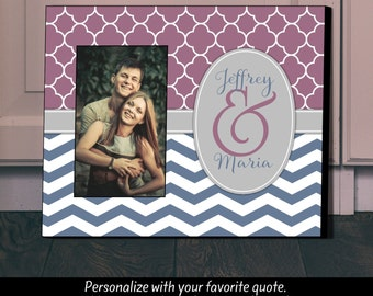 Personalized Picture Frame, Monogram Frame, Picture Frame, Dorm Decor, Teen Room, Gift for Girlfriend, Teen Gift, Graduation Gift