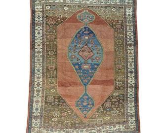 "10'8""x14'1"" Handmade Original Antique Persian Bakshaish Mint Cond Rug"