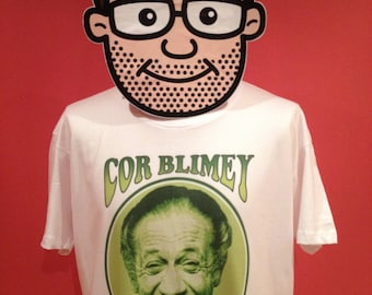 Sid James Cor Blimey T-Shirt - (Carry On Films / Bless This House)- White Shirt