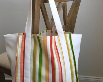Everyday Canvas Tote Bag- Farmer's market, grocery tote, library bag, travel bag *Ready to Ship*