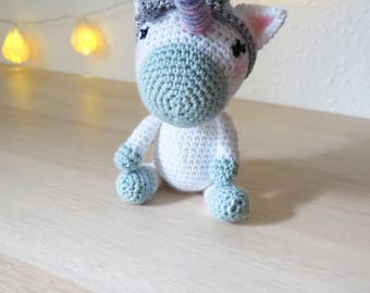 UNICORN Aurora Crochet doll amigurumi BABY Shower Birthday GIFT