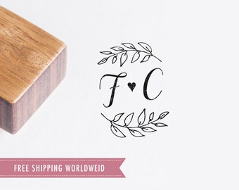 Wedding stamp de Luxe • Custom wood stamp •  Wedding monogram • Wedding favors • Personalized stamps • Cardyes stamp products