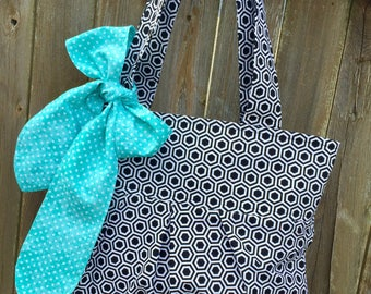The Rae Tote- Fabric Tote/Handbag/Hobo/Purse