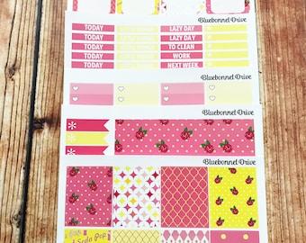 PINK LEMONADE Functional Sticker Kit, Planner Stickers, Vertical Sticker Kit Sized for Erin Condren Life Planner