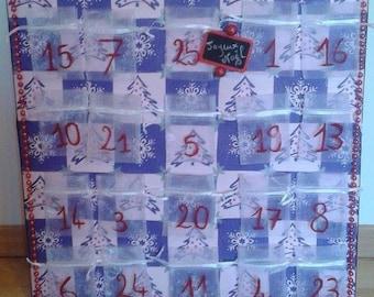 gorgeous on canvas Christmas advent calendar varnish