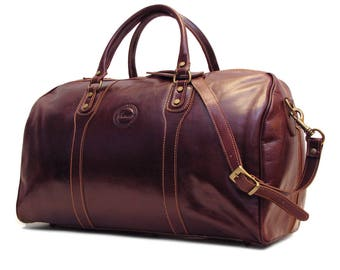Cenzo Leather Duffel Bag, Travel Bag, Overnight Bag, Weekender Bag, Duffle Bag, Gym Bag, Leather Sports Bag (8815)