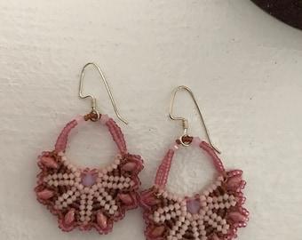 Pink Bloom Dangle Earrings