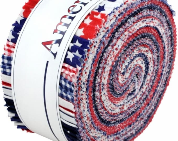 "Windham American Basics Jelly Roll - (40) 2.5"" X 44"" Strips Cotton Quilt Fabric - Windham Fabrics -  JRAB-82 (W1974)"