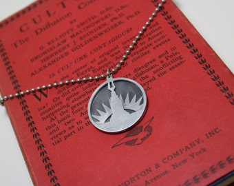 Welcome To Rapture Hand Cut Aluminum Art Deco Necklace