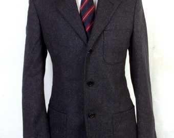 Superb Quality 38R Houndstooth Windowpane Nicely Tailored Gentry Wool Sport Coat KVJON1t