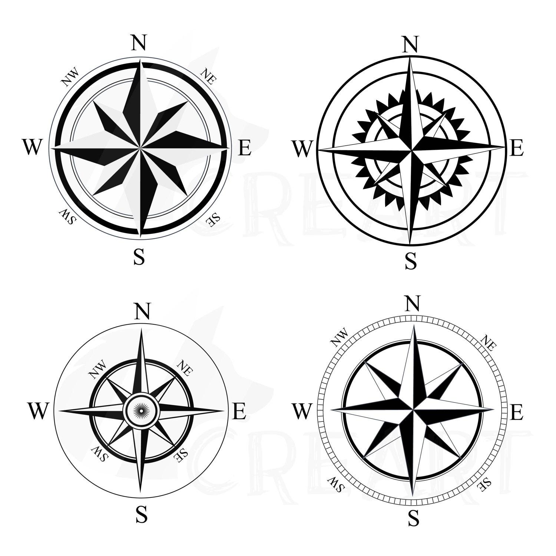 Kompass Silhouette Pack Eps Png Jpg Pdf Svg Vektor